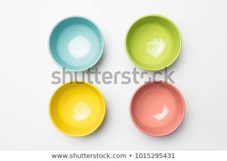 четыре · белый · фрукты · синий · десерта - Сток-фото © mamamia