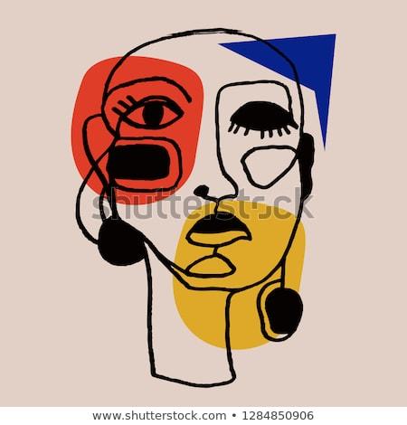 ストックフォト: ファッション · 女性 · 抽象的な · 女性 · 肖像 · デザイン