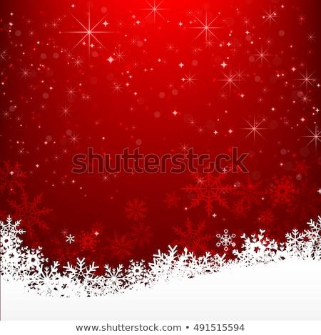 Рождества фон звезды красный карт Сток-фото © illustrart
