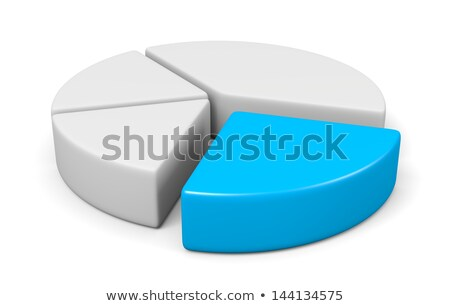3d blank pie diagram with one blue piece Stock photo © make