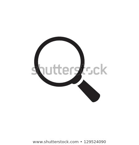 magnifying glass set illustration stock photo © burakowski