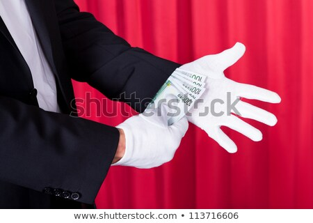 Magician Removing 100 Euro Note Stock photo © AndreyPopov