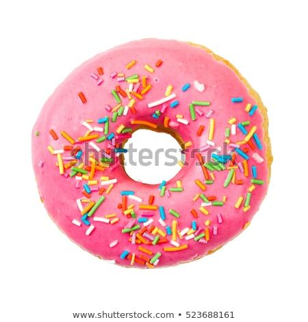 пончик · изолированный · белый · продовольствие · счастливым - Сток-фото © natika