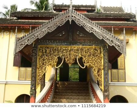 The beauty of Thai northern lanna style architecture in the temp Stock photo © nalinratphi