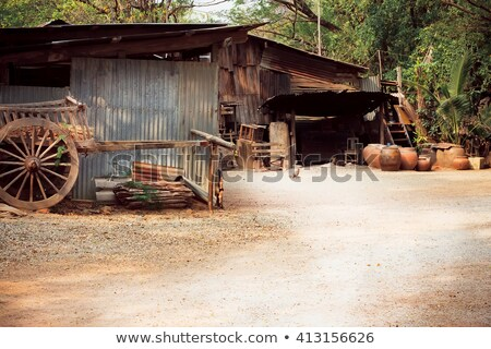 old shack in field Stock photo © Quasarphoto