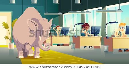 cartoon businesswoman ignoring Stock photo © lineartestpilot