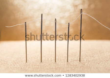 tailor with needle and thread and scissors Stock photo © feelphotoart