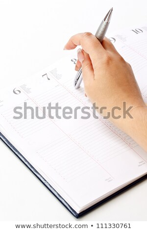 tervező · öntapadó · jegyzet · megbeszélés · üzlet · munka · toll - stock fotó © zerbor
