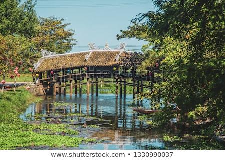 Thanh Toan Tile Roofed Bridge, Hue, Vietnam Stock photo © romitasromala