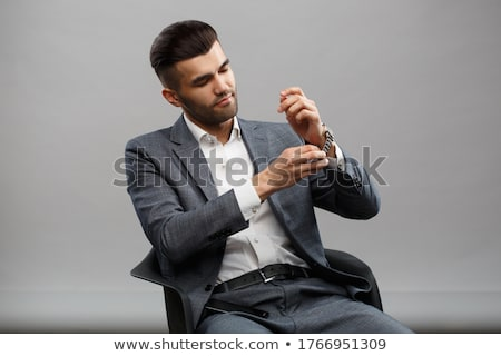 Young attractive macho stylish fashionable guy. Stock photo © master1305