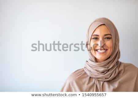 schoonheid · model · portret · hoofddoek · vrouw · meisje - stockfoto © anna_om