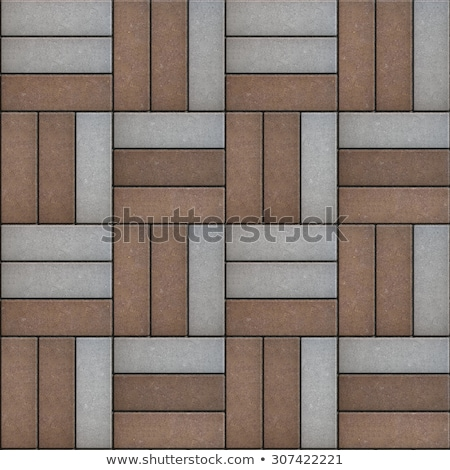 Gray and Brown Rectangles Randomly Laid Weave.  Stock photo © tashatuvango