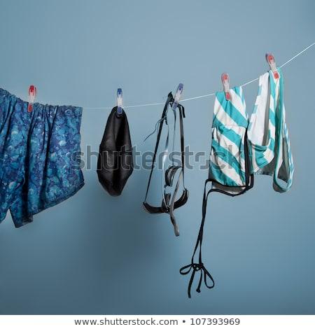 Four colored cotton bra. Stock photo © RuslanOmega