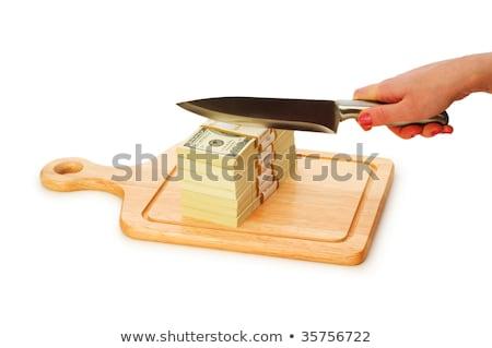 Coltello taglio carta parola soldi Foto d'archivio © fuzzbones0