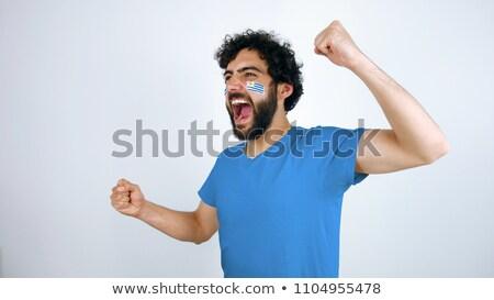 Уругвай флаг рубашку деловой человек бизнеса Сток-фото © fuzzbones0