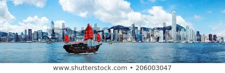 Hong-Kong · voilier · traditionnel · voile · port · affaires - photo stock © joyr
