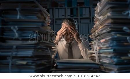 работу перегрузка человека бумаги азиатских служба Сток-фото © RAStudio