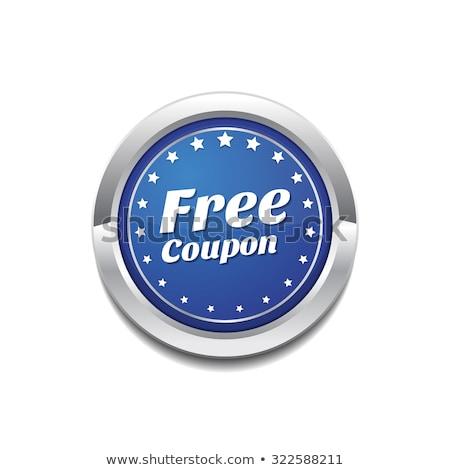 Free Coupen Blue Vector Icon Button Stock photo © rizwanali3d