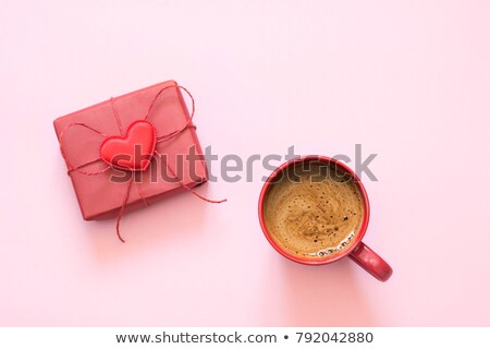 Gift with love and coffee Stock photo © laciatek