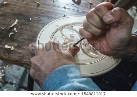 Handen kom man hout Stockfoto © deyangeorgiev