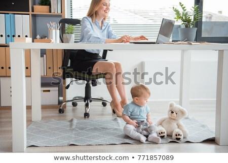 kariyer · annelik · çekici · genç · anne · oturma - stok fotoğraf © diego_cervo