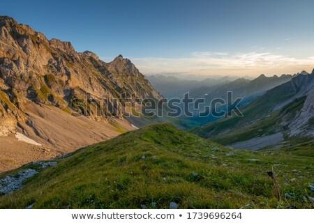 Paisaje Suiza casas hermosa día casa Foto stock © Elenarts
