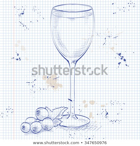 Alcoholic cocktail Rose on a notebook page Stock photo © netkov1