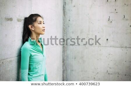 спортивный женщину стены город здании Сток-фото © wavebreak_media
