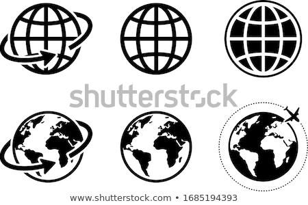 gekleurd · globes · vector · aarde · Blauw - stockfoto © bluering