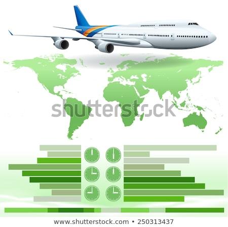 An infochart showing a plane Stock photo © bluering