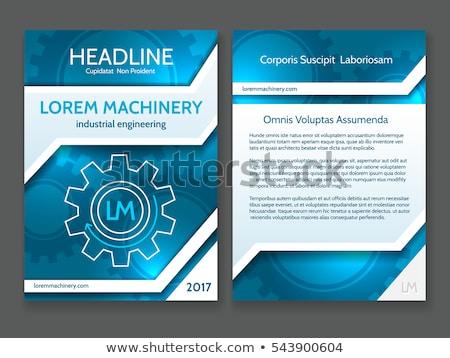 Technikai absztrakt viselet brosúra jelentés design sablon Stock fotó © orson