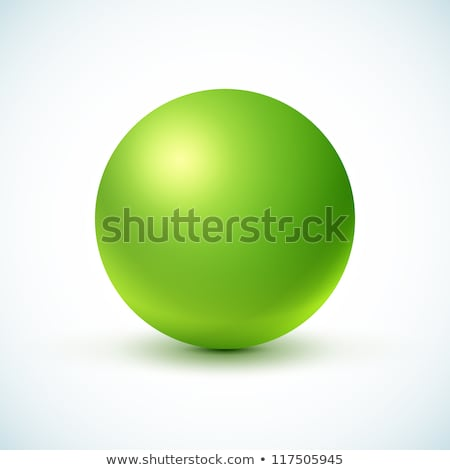 a green round ball stock photo © bluering