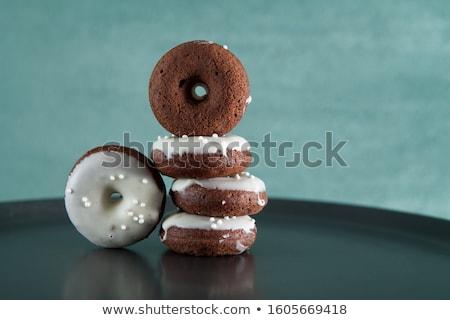 Mini çikolata kekler ahşap gıda karanlık Stok fotoğraf © Digifoodstock