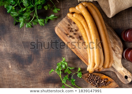 Stock photo: Grilled Vienna sausages