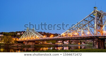 Dresda azul maravilha ponte água construção Foto stock © LianeM