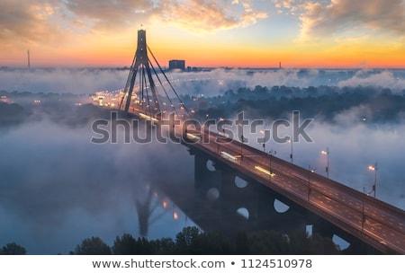 黄昏 ウクライナ スカイライン 反射 川 空 ストックフォト © joyr