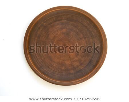 empty brown earthenware plate Stock photo © nito
