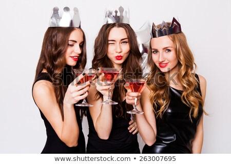 three party girls Stock photo © nicemonkey