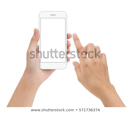 close up of female finger touching smartphone screen stock photo © stevanovicigor