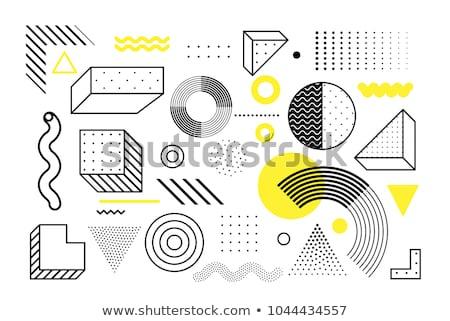 Set of geometric shapes Stock photo © Vanzyst