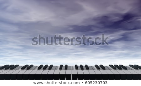 фортепиано · клавиатура · Blue · Sky · 3d · иллюстрации · небе · аннотация - Сток-фото © drizzd