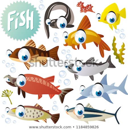 Doodle character for yellow tang fish Stock photo © bluering