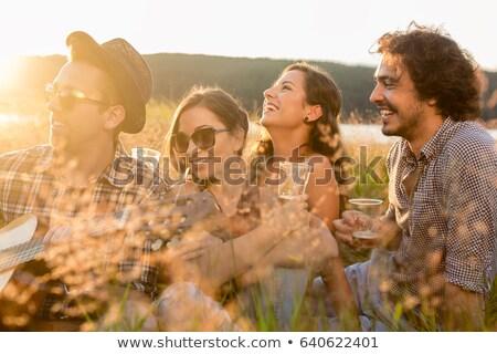 Giovani sera stato d'animo estate giorno Foto d'archivio © Kzenon