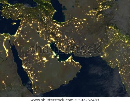 Omán Föld piros régió 3d illusztráció rendkívül Stock fotó © Harlekino