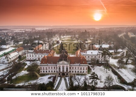 Garden of the Royal Palace of Godollo Stock photo © skovalsky