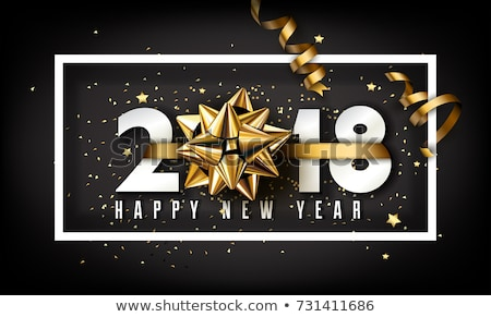 stock photo stock vector illustration new year 2018 card template with back light and place for your text