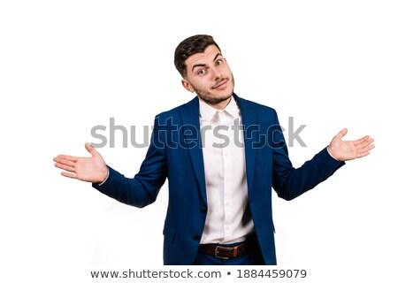 kaukasisch · verward · zakenman · schouders · twijfelachtig - stockfoto © rastudio
