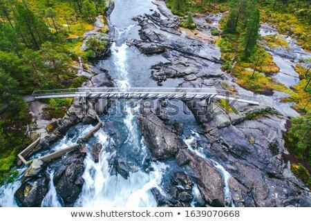 likholefossen waterfall in norway Stock photo © compuinfoto