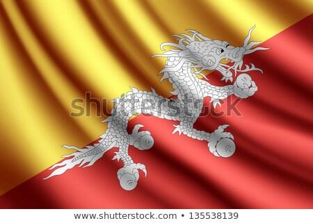 Bhutan vlag vector afbeelding textuur Stockfoto © Amplion