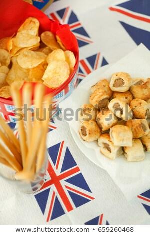 колбаса · избирательный · подход · катиться · продовольствие - Сток-фото © is2